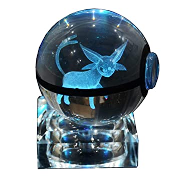 Amazon.com: s-so lindo K9 bola de cristal 3d Pokemon lámpara ...