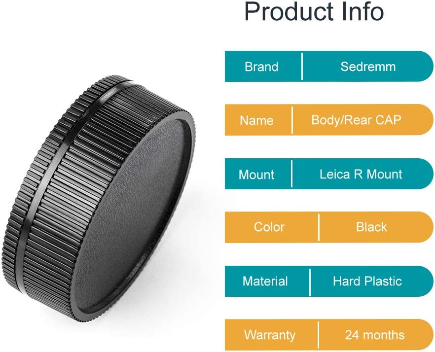 Camera Body Cap and Lens Rear Cap Cover Replacement for Sony Alpha A-Mount//Minolta AF Mount Lens,2 Packs