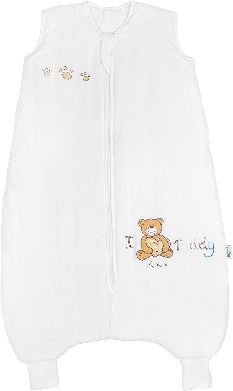 Disponible en 4 tailles beige beige 3-4 ans Slumbersac Gigoteuse d/ét/é en bambou avec pieds env 1 Tog I Love Teddy