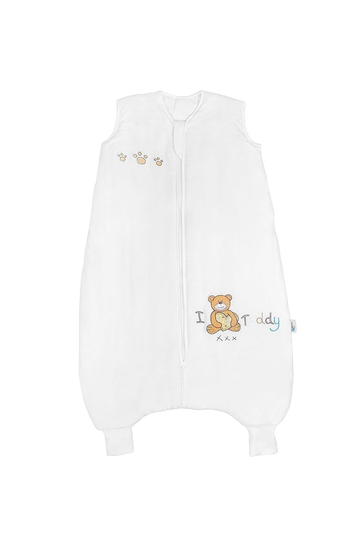 Slumbersac - Saco de dormir de bambú con diseño de oso de peluche para bebé (para todo el año, con pies, 2.5 tog, disponible en 4 tallas) beige crema ...