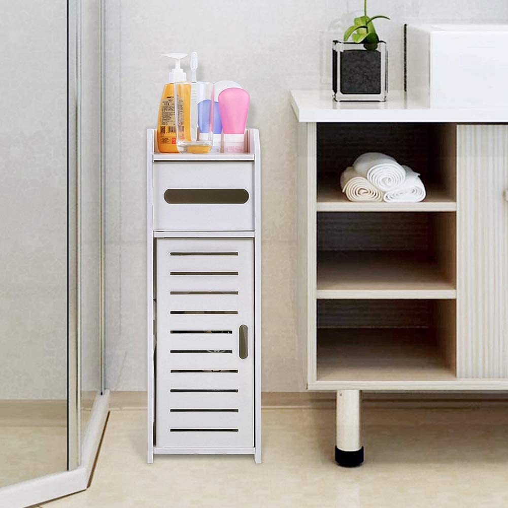blanc Peque/ña armoire de rangement pour salle de bain Zerone Meuble colonne de salle de bain