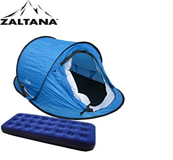 POP UP TENT WITH AIR MATTRESS(SINGLE) SET  sc 1 st  Amazon.com & Amazon.com : POP UP TENT WITH AIR MATTRESS(SINGLE) SET : Family ...