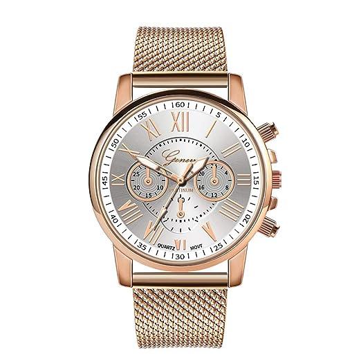BBestseller Relojes Mujeres,Moda Accesorios Cuarzo Acero Inoxidable Relojes Fecha Reloj de Pulsera Casual Simple