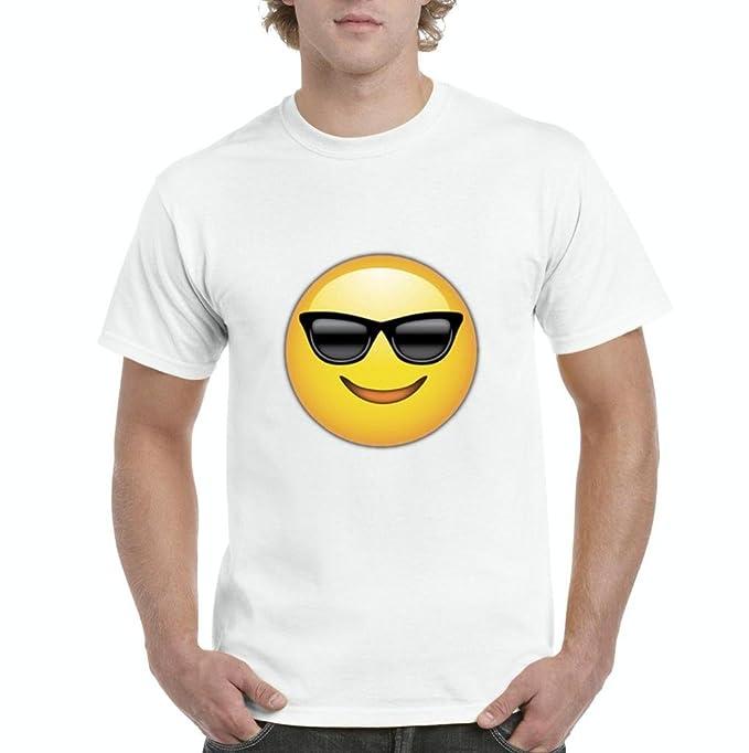 Artix Emoji - Camiseta para Hombre con Gafas de Sol - Blanco ...