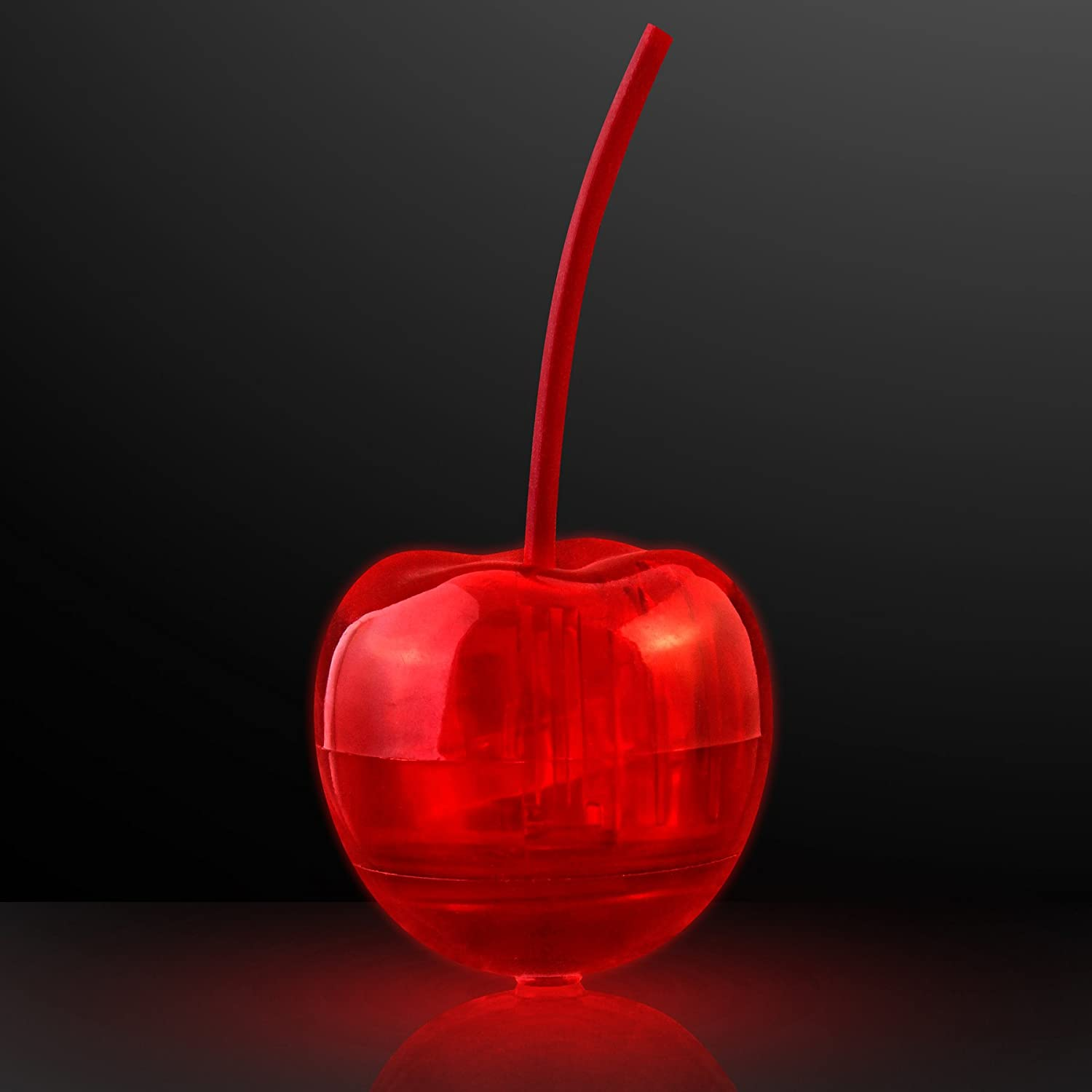 Light Up LED Cherry Drink Garnish (Set of 12) FlashingBlinkyLights