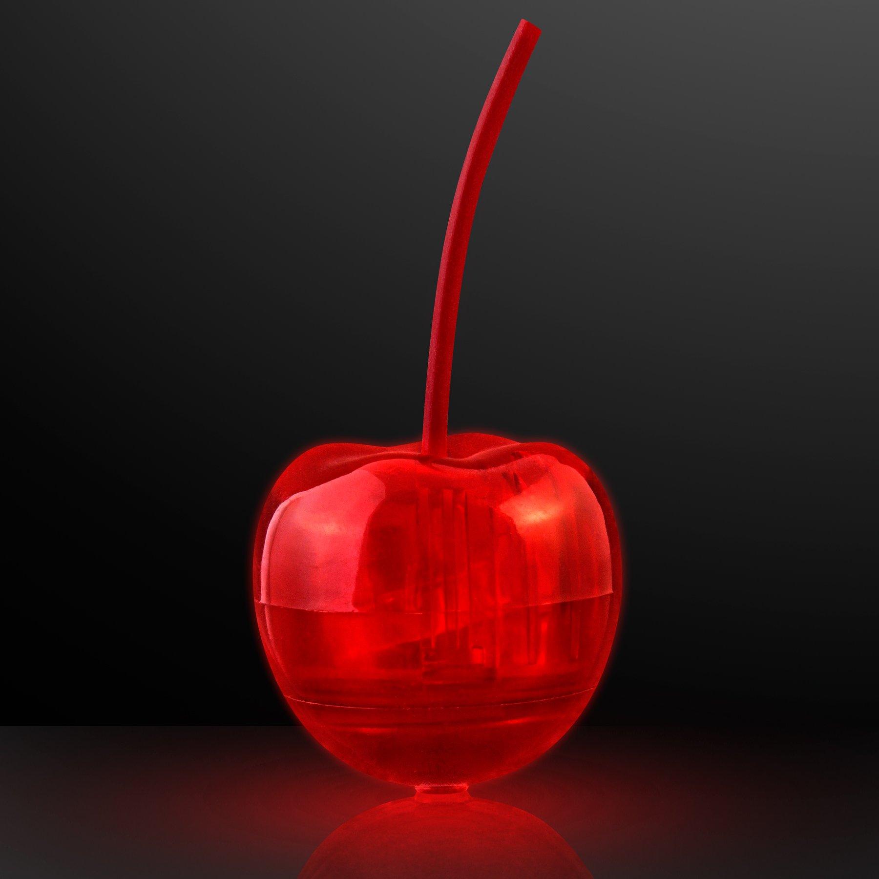 Light Up LED Cherry Drink Garnish (Set of 24)