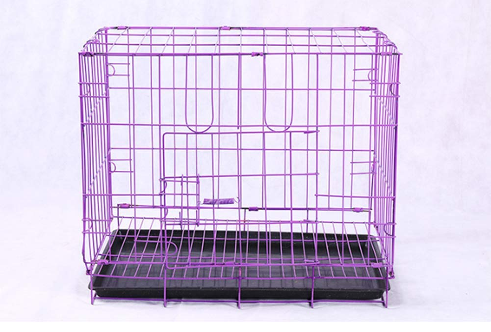 Purple 503542cm Purple 503542cm TIANTIANMAI Dog cage bold folding wire cage pet cage cat cage dog pet supplies rabbit cage