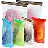Reusable Silicone Food Storage Bags,WOHOME Airtight Seal Food Preservation Bags/Food Grade/Versatile Preservation Bag…