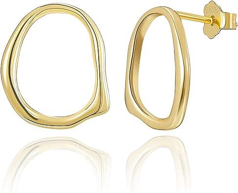 Gold Hoops Hoop Earrings Made from Sterling Silver 925. Gold Hoop Earrings Gold Earrings Gift for Her