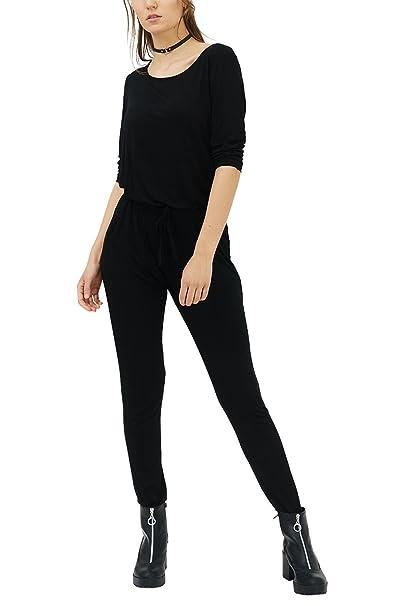 f1d1750435 trueprodigy Casual Damen Marken Jumpsuit einfarbig Basic Einteiler Cool  Stylisch sexy sportlich Slim Fit Overall für Frauen: Amazon.de: Bekleidung