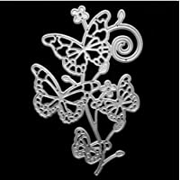 DIY Metal Embossing Plant Series Cutting Dies Stencil for Paper Card Scrapbooking Album Art Craft Gift (G)