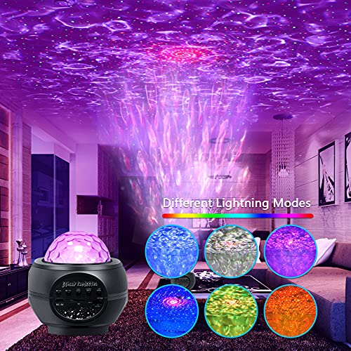 Halloween Christmas Galaxy Projector, Star Projector with Remote Control Night Light for Kids Room,Bluetooth Music Speaker Starry Projector LED Party Sky Light for Ceiling Teen Room Decor Aesthetic