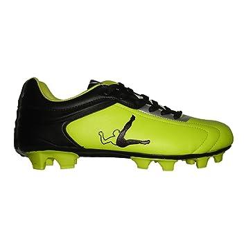 Legea Zapatos Fútbol Junior Modelo Rull Color Amarillo Negro Articolo SA528 Jr Piel Sintética 14 tacos lamellari: Amazon.es: Deportes y aire libre