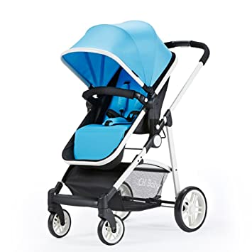 HJHY Carros de bebé, Paisaje alto Ultra-light Puede sentarse ...