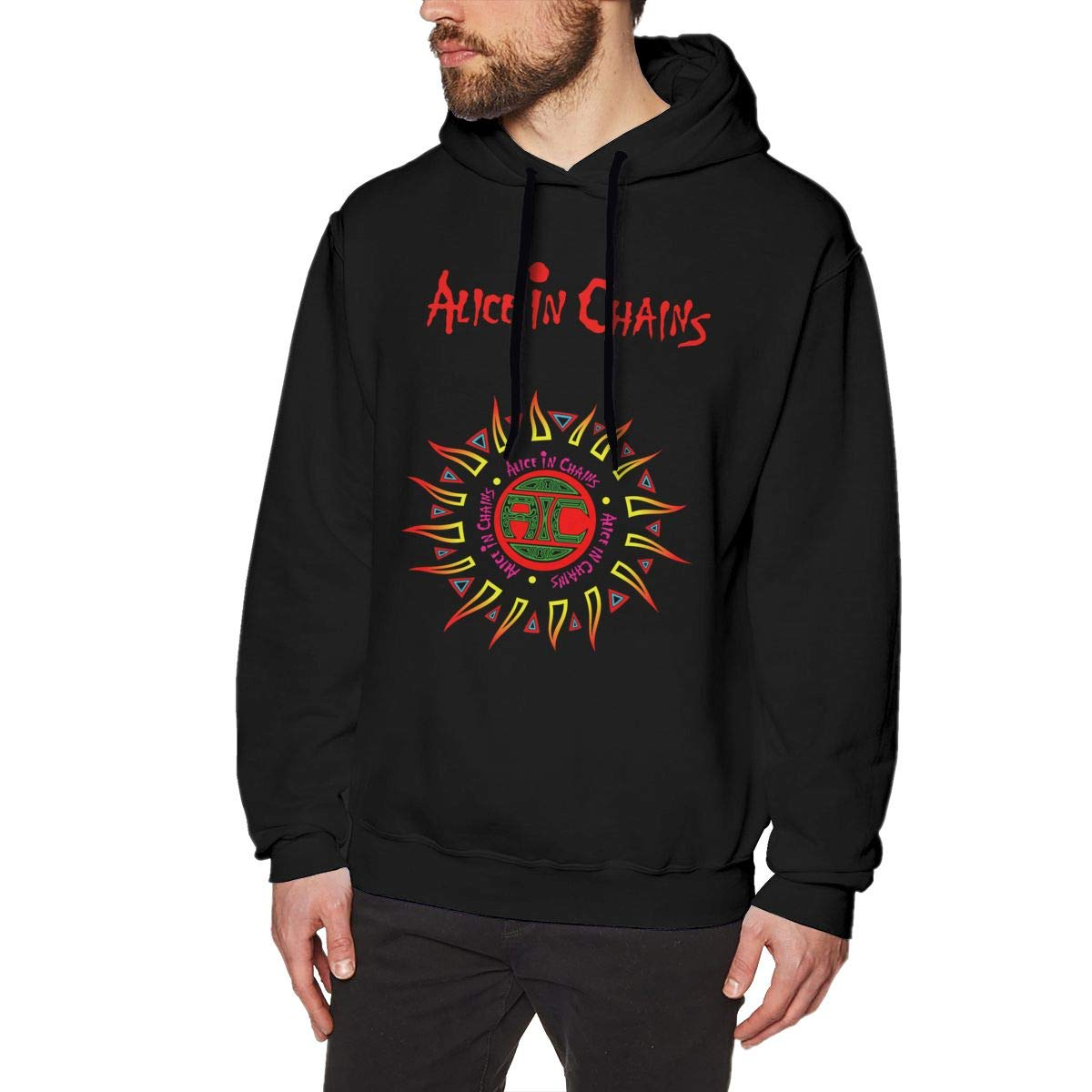 Alice in Chains Men's Hoodies Sweater Fashion Long Sleeve Top Hooded Sweatshirts