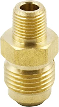Straight Male NPT to Male SAE 45 Adapter Connector 3//8 Tube OD x 3//8 Male NPT