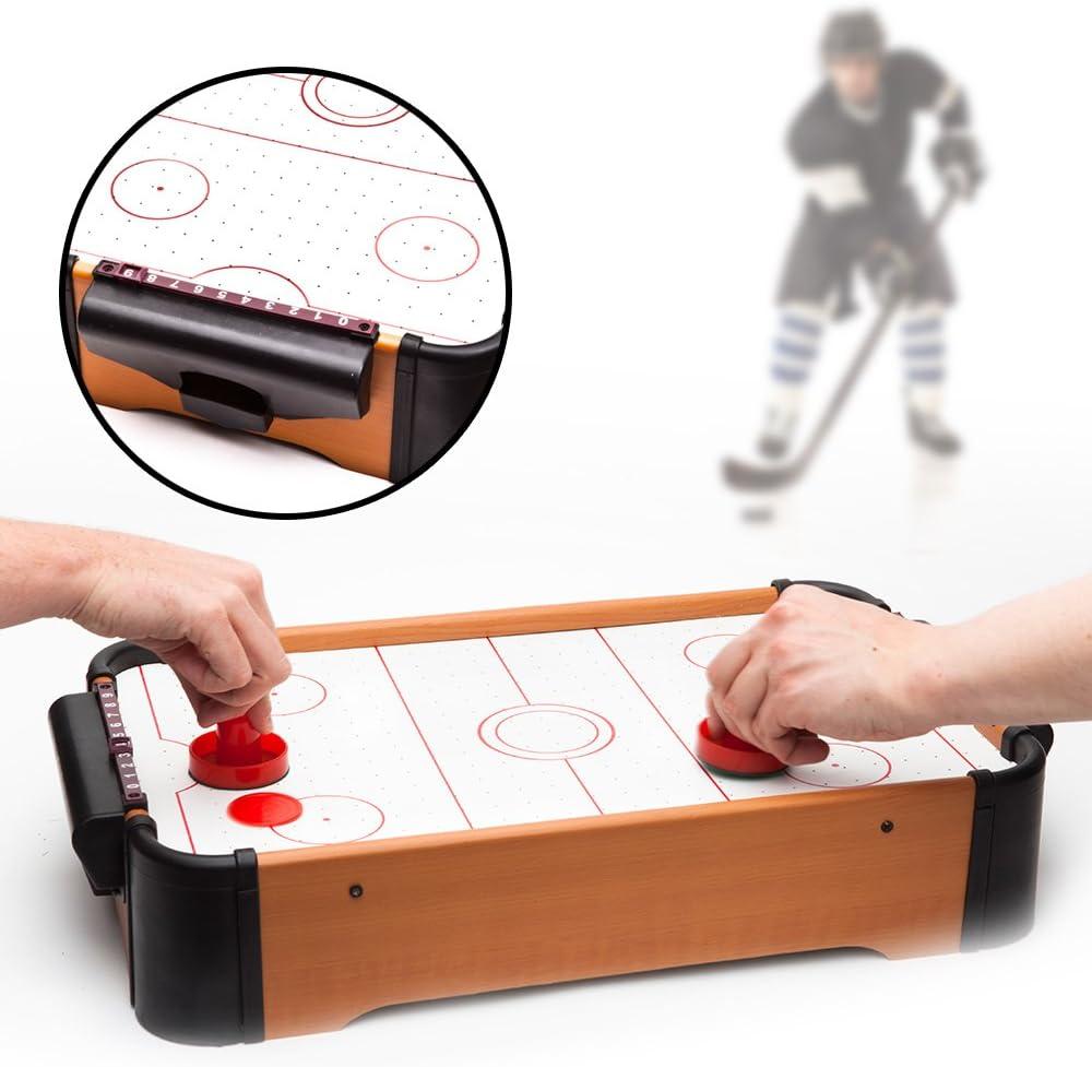 Spetebo Mini Air Hockey Tisch mit Zubehör: : Spielzeug