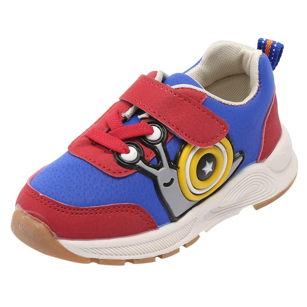 XUANOU Baby Boys Girls Snails Cartoon Snails Sport Running Sneaker Casual Shoes