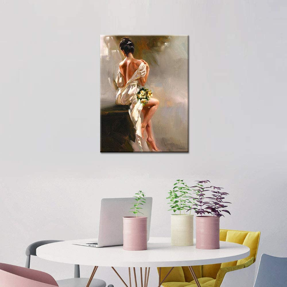 """24/""""x32/""""Little Angel Naked Home Decor HD Canvas prints Picture Wall art Painting"""