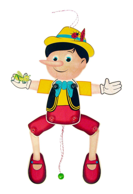 Hess Giocattoli di legno 12431burattino Pinocchio in legno, circa 40x 17x 3cm Hess Holzspielzeug Hess_12431