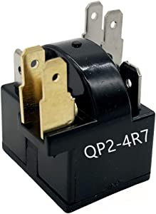 QP2-4R7 Start Relay Refrigerator PTC Ohm 6 Pin For Whirlpool Vissani Danby EdgeStar Summit Haier Igloo etc Compressor