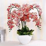 GBHNJ False Vase Pu Red Orchid Artificial Decoration