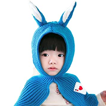 553f9e5afd9 Image Unavailable. Image not available for. Color  Baby Cute Winter Rabbit  Ears Kids Baby Hats Keep Warm Set Cute Hat Scarf ...
