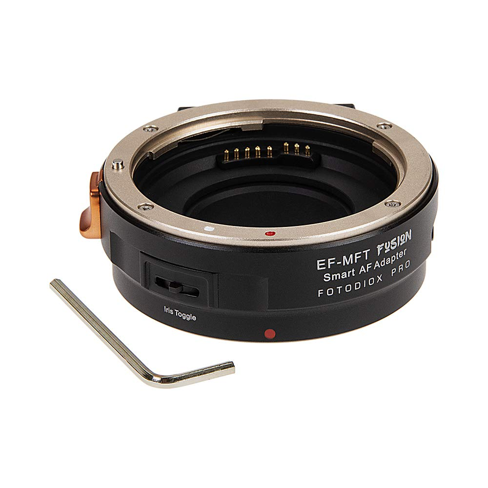 Fotodiox Pro Fusion Smart Adapter Compatible with Canon EOS EF/EF-S Lenses to Micro Four Thirds Camera