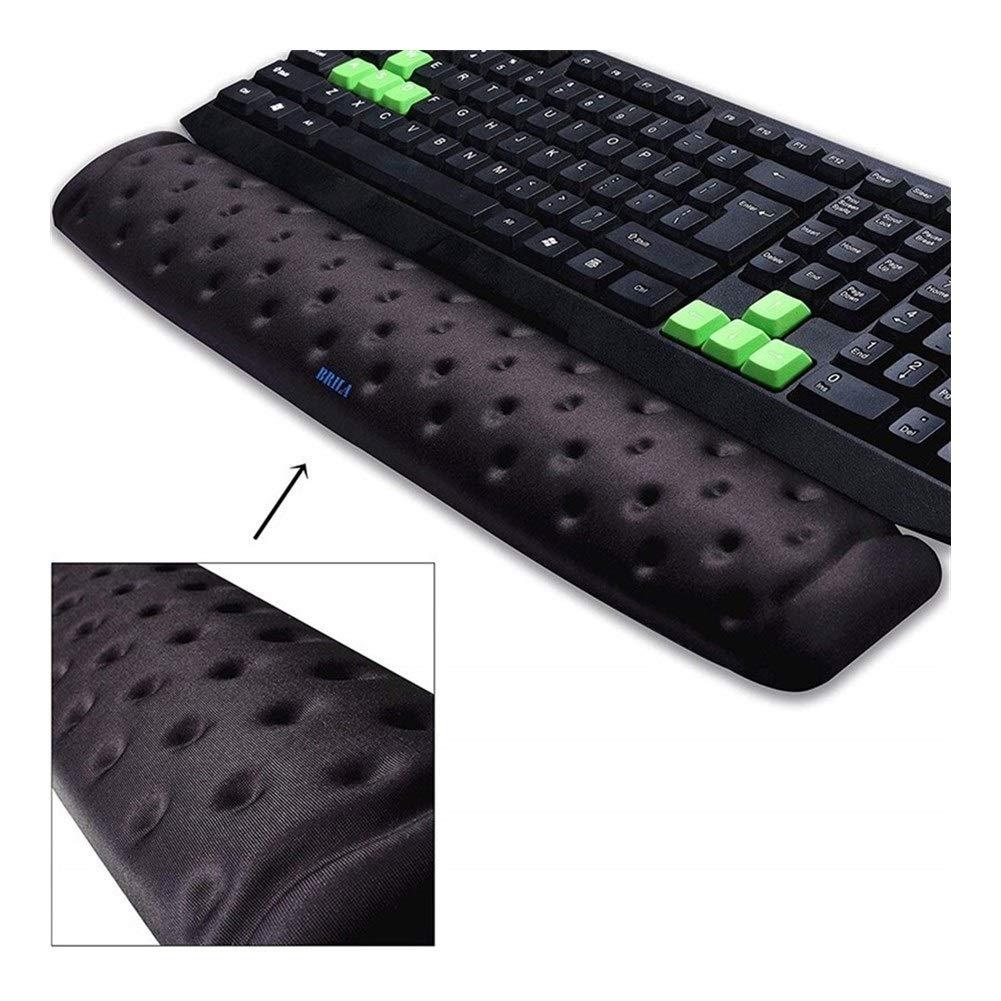 Color : Black Bundle Wrist Pain Relief 8724efedfef BRILA Memory Foam Ergonomie Maus /& Tastatur Handgelenk Rest Unterst/ützung Sitzkissen for B/üroarbeit Und PC-Spiele