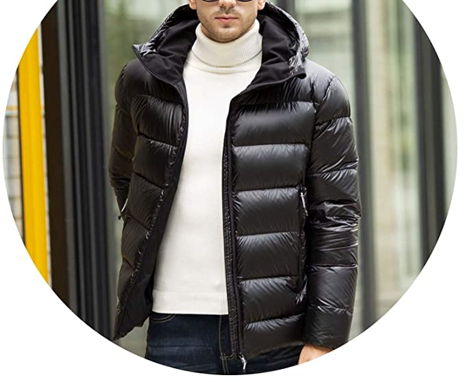 93a43ae2 Amazon.com: 100% White Goose Down Male Warm Jacket Coats Solid ...