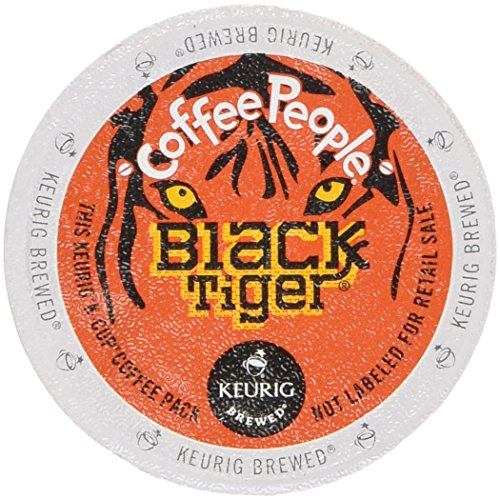 48 Count - Coffee People Black Tiger Dark-Roasted Extra Bold Coffee K-Cup For Keurig Brewers