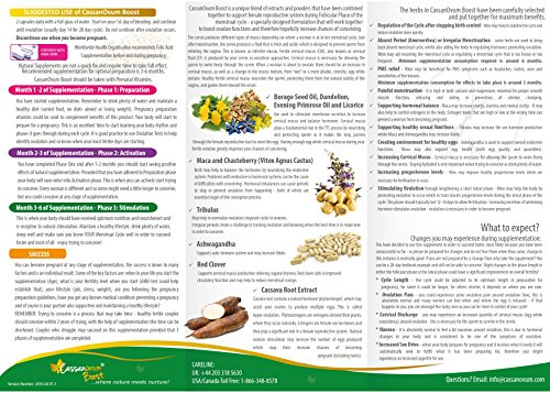 CassanOvum Boost, for egg quality quantity, uterine lining and contains and Unique Herbal (Evening Primrose, Root, Chaste Borage, Root, Red Ashwaganda -