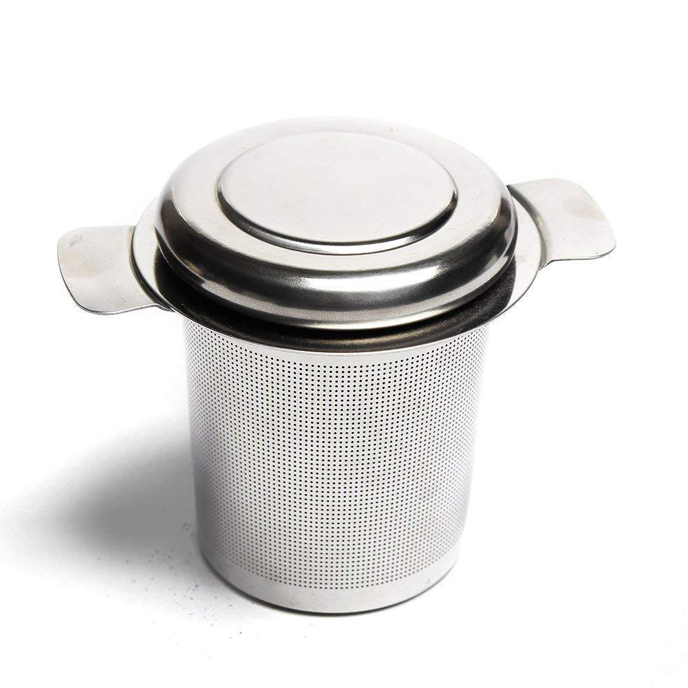 VAHDAM Classic Tea Strainer & Tea Maker FDA Approved Stainless Steel | MESH with LID | Can be Used with a Tea Pot, Tea Cup, Tea Mug to Brew Loose Leaf Tea | Durable Tea Strainer