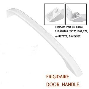 MAYITOP 218428101 Door Handle for Frigidaire Refrigerator AP114539 PS427922 (White)