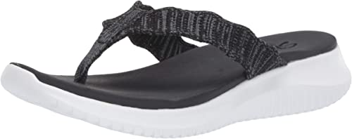 Skechers Womens Ultra Flex-Engineered Knit Flip-Flop