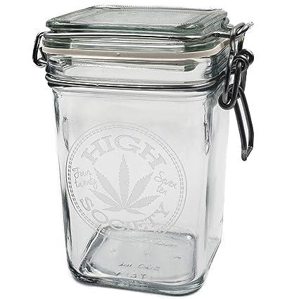 Incroyable Dope Jars   Herb Storage, Swing Top Stash Jar Dope Designs Deep Etched  (Large