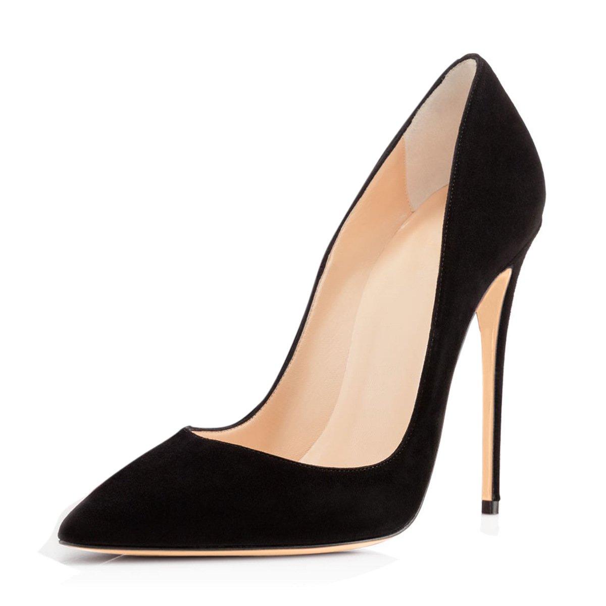 FYM Größe Schuhe DYF Damenschuhe Soild Farbe Größe FYM scharfe High Heel flache Mund  schwarz 19e636