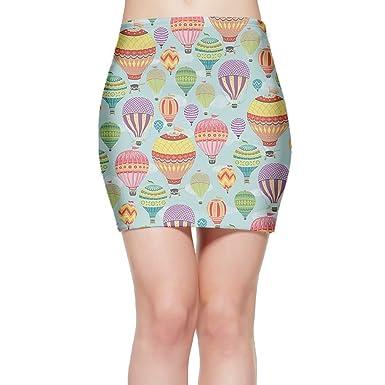 568d0f59fe Amazon.com: GFERTY Women's Tight Mini Skirt Colorful Hot Air Balloon Slim  Short Skirt Above Knee Bodycon Bandage Pencil Skirt: Clothing
