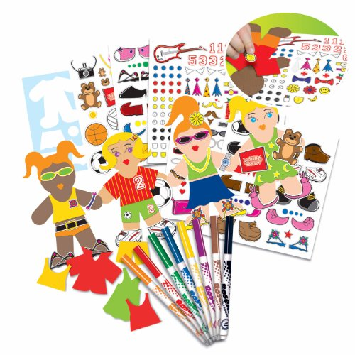 Rose Paper Doll (RoseArt Paper Doll Creations Activity Kit, Packaging May)