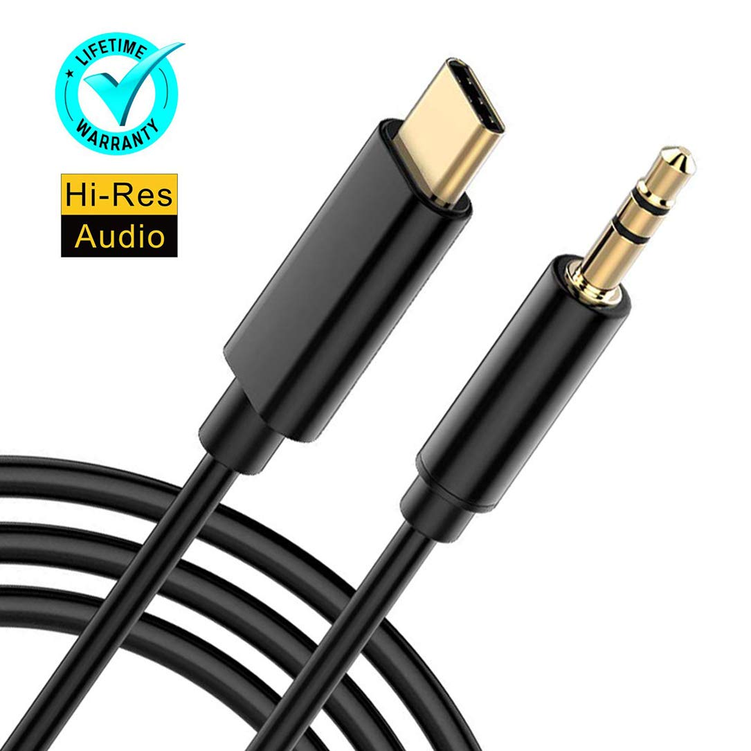 Galaxy Note 10 iPad pro 2018 USB C to 3.5mm Headphone Adapter,USB Type C Headphone and Charger Splitter Dongle with Fast Charging Compatible for Pixel 3 3XL 2 2XL HTC and More USB C Devices
