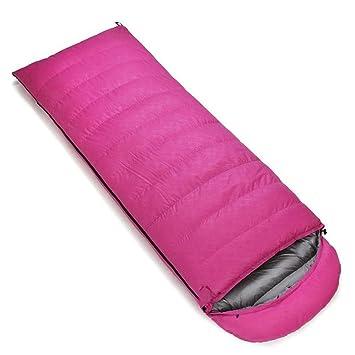 Bolsa de dormir Pluma saco de dormir al aire libre súper ligero plumón de ganso rectangular ...
