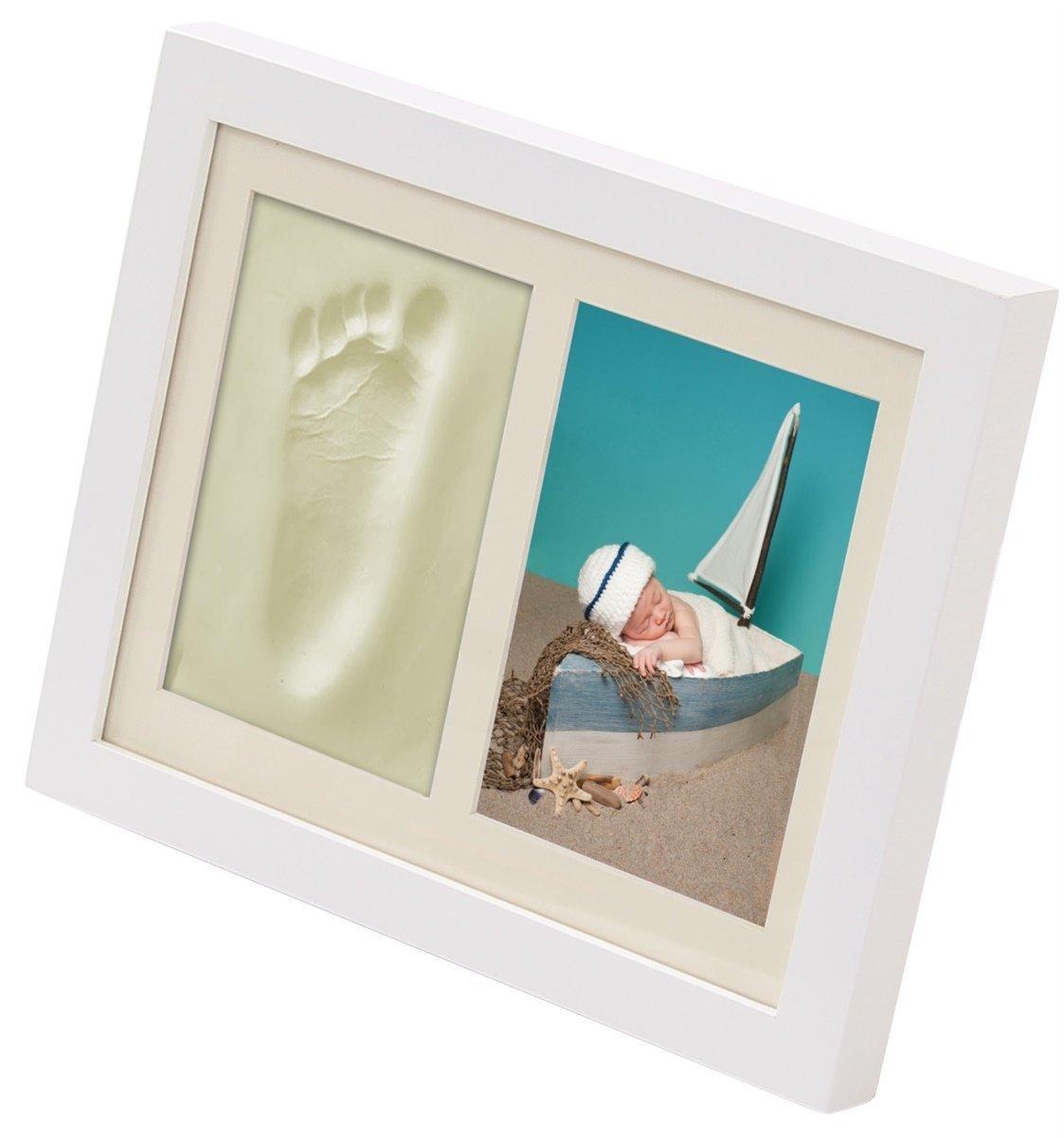 Baby 3D Gipsabdruck Handabdruck Fußabdruck Abdruck Set Fotorahmen ...