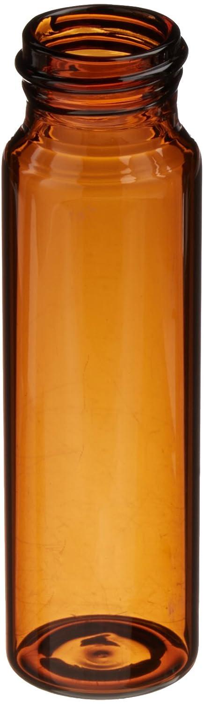 Pack of 144 JG Finneran 340024-2895A Borosilicate Glass Environmental VOA Vial 40mL Capacity 28mm Diameter x 95mm Length 24-400mm Thread Amber