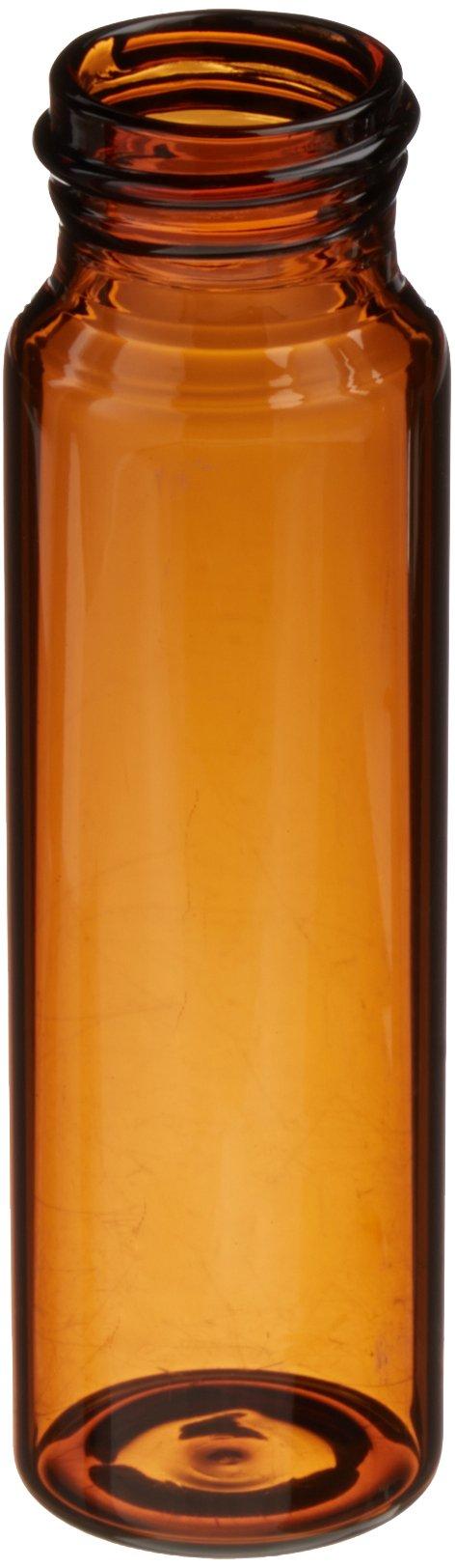 JG Finneran 340024-2895A Borosilicate Glass Environmental VOA Vial, 40mL Capacity, Amber, 28mm Diameter x 95mm Length, 24-400mm Thread (Pack of 144)