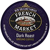 French Market Coffee Single Serve Cups, Dark Roast, 12 Count