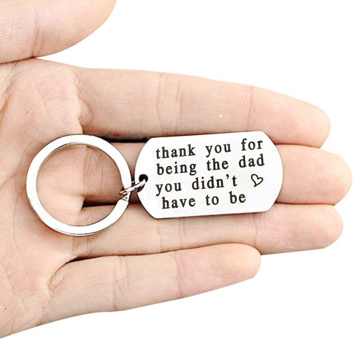 Stepdad Gifts from Daughter or Son Fathers Day Gifts for Stepfather from Stepdaughter or Stepson Step Dad Keychain Daddy Birthday Gift