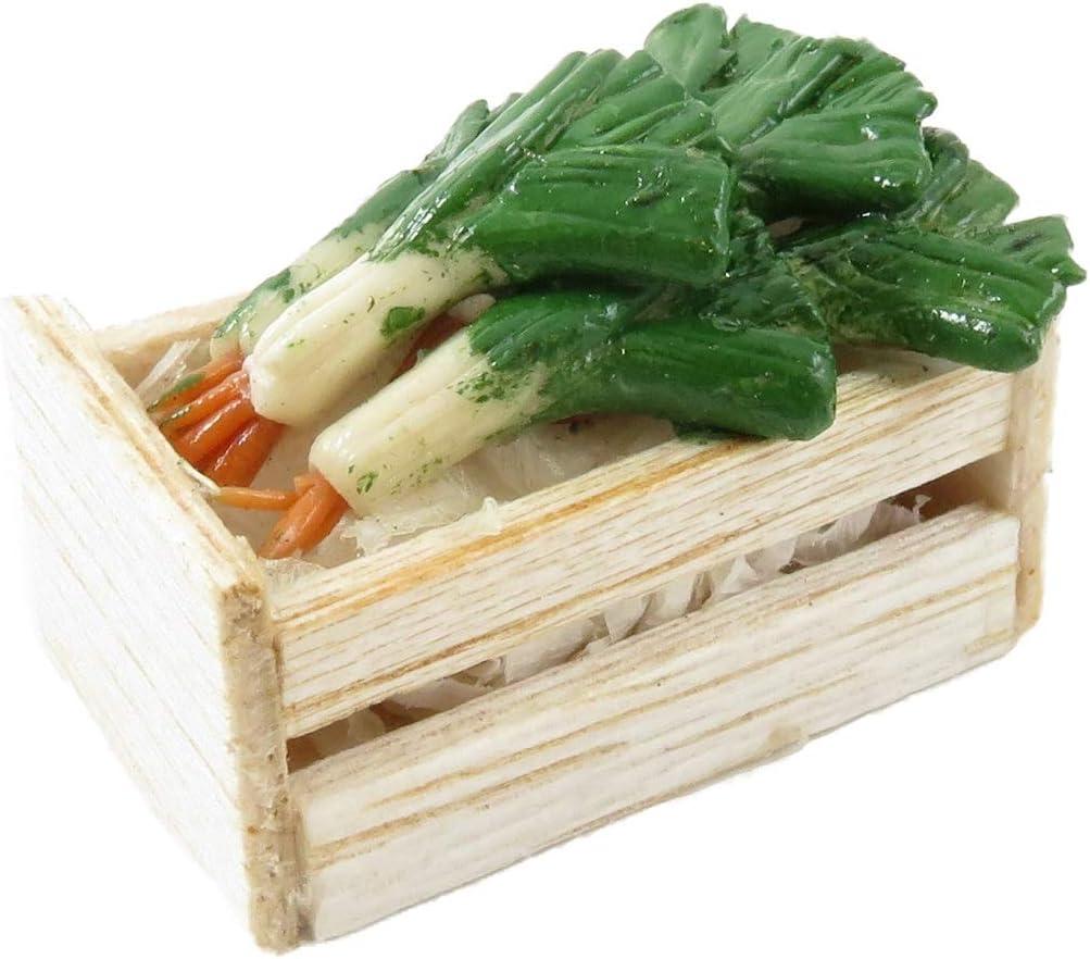 Amazon.es: Melody Jane Casa de Muñecas Caja Cajón de Puerros Mercado Puesto Frutería Tienda Tienda Accesorio: Juguetes y juegos