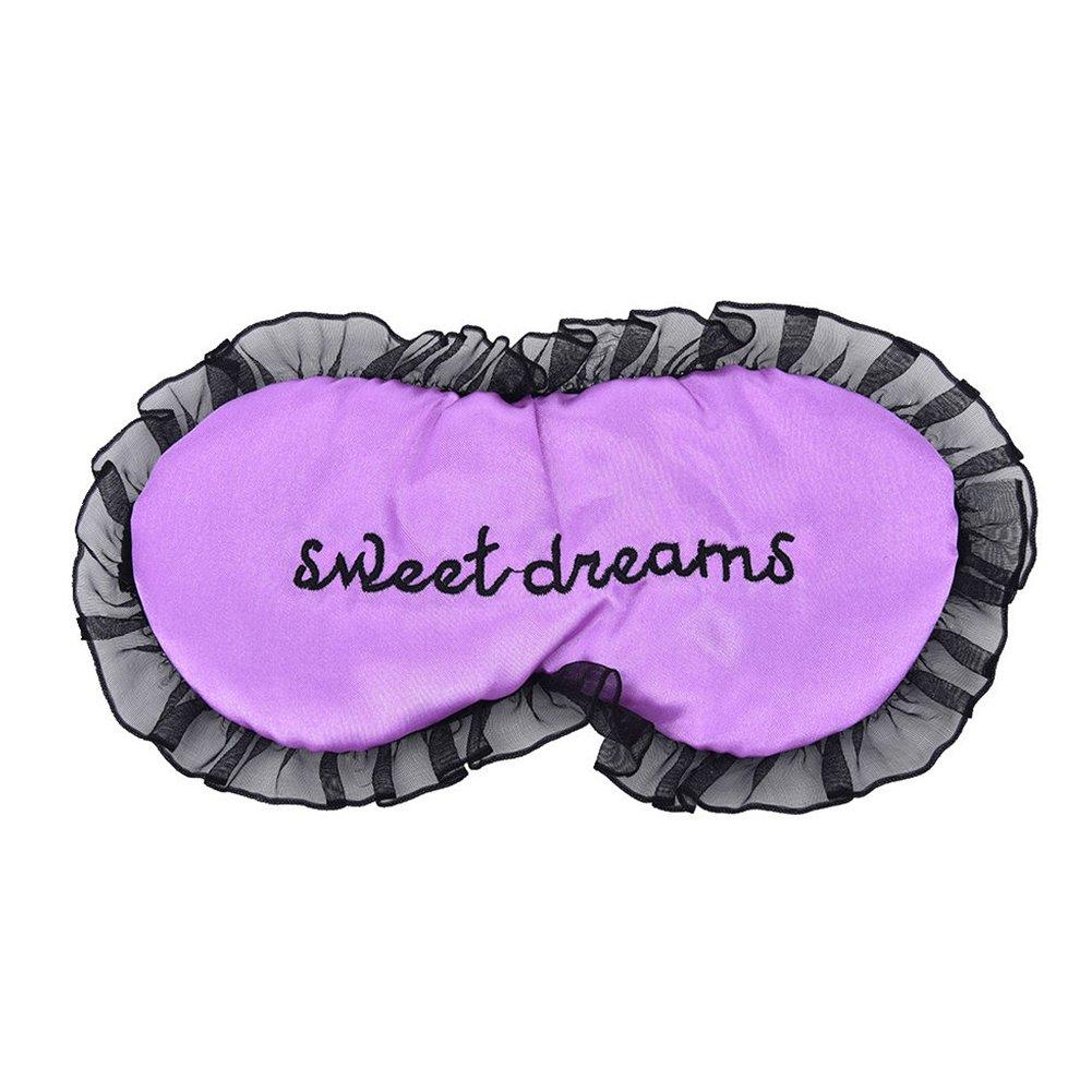 Máscara de encaje para dormir, máscara de ojos de seda, máscara de dormir personalizable con encaje: Amazon.es: Belleza