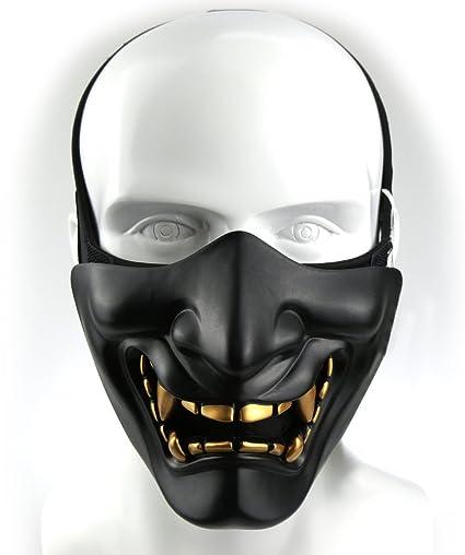 Airsoft máscara media cara para jóvenes niños rápido casco ...
