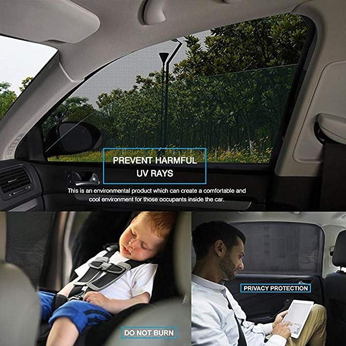 2 St/ück Etmury Sonnenschutz Auto Kinder//Baby Sonnenblende Auto f/ür Baby mit UV Schutz Autofenster Auto Fenster Sun Bezug Heckscheibe Seitenscheibe Sonnenblende f/ür die Meisten Autos